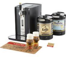 Pack PerfectDraft (machine à bière + 2 fûts au choix parmi une sélection + tapis de bar + 2 verres) + lot de 12 bières offertes