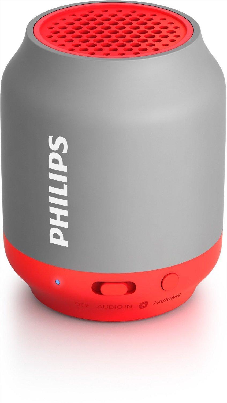Enceinte Portable Philips BT50G Bluetooth avec Entrée Audio - Rouge ou Jaune