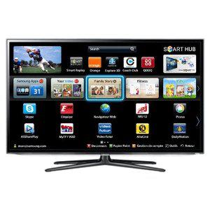 """TV LCD 46"""" Samsung UE46ES6300 LED 1080p 3D Smart TV avec Wi-Fi intégré, 2 paires de lunettes"""