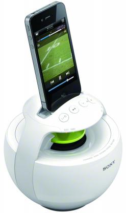 Dock iPod Sony RDP-V20ip Blanc - Son à 360°
