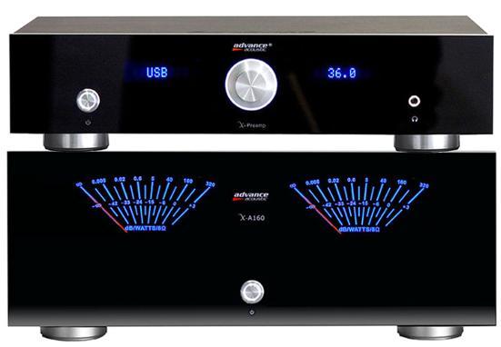 Pack ampli Advance audiophile Préampli X-Preamp + Ampli de puissance X-A160 (2x160W, DAC 24Bits/192kHz...)