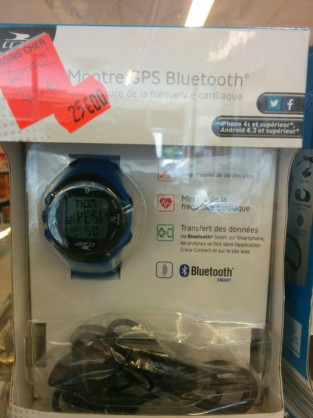 Montre GPS + cardiofréquencemètre connectée Crane