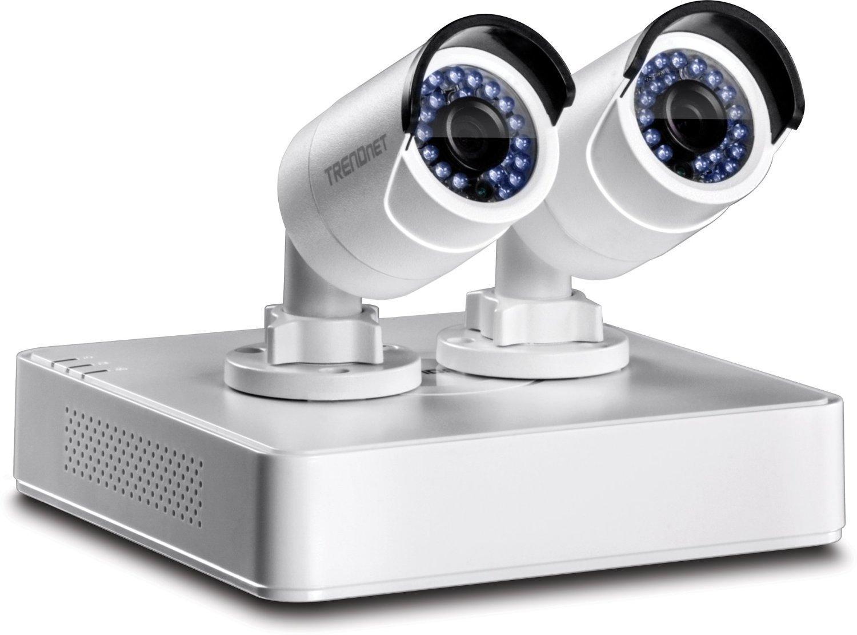 Kit Video Surveillance Trendnet TV-NVR104K NVR PoE HD - 4 canaux avec HDD 1 To et deux caméras réseau TV-IP320PI