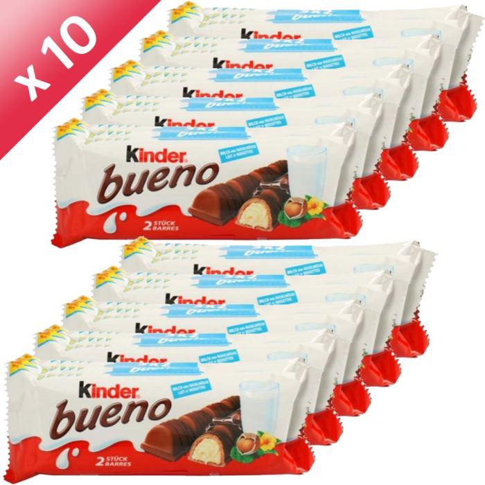 Lot de 10 paquets de 3 Kinder Bueno