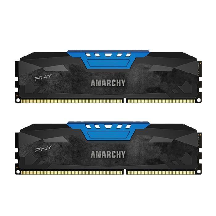 Kit Mémoire PNY Anarchy Blue 8Go (2x4Go) - DDR3, 1866MHz