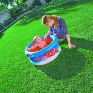 Piscine Gonflable Enfant 3 boudins pour bébé Nemo  - Diamètre 70cm