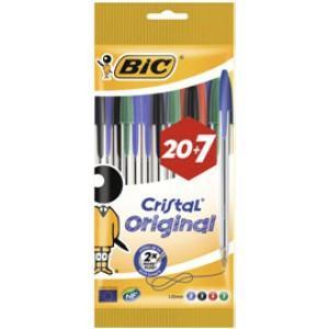Paquet de 27 stylos-bille Bic Crystal  (via 1.4€ fidélité)