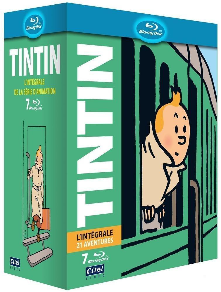 Coffret Blu-ray Tintin: l'intégrale de l'animation - 21 Aventures