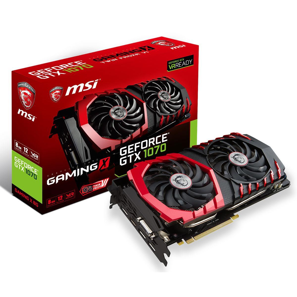 Carte graphique MSI GeForce GTX 1070 GAMING X 8G