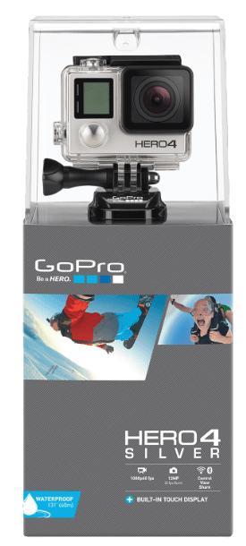 Caméra sportive GoPro Hero4 Silver Adventure Edition + 2 carte Samsung evo 64gb