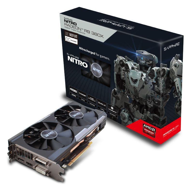 Carte Graphique Sapphire AMD R9 380X Nitro - 4 Go GDDR5