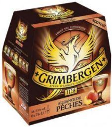 Pack de 6x25cl bières Grimbergen Alliance de pêches, 5,5% vol.(via BDR 1,30€)