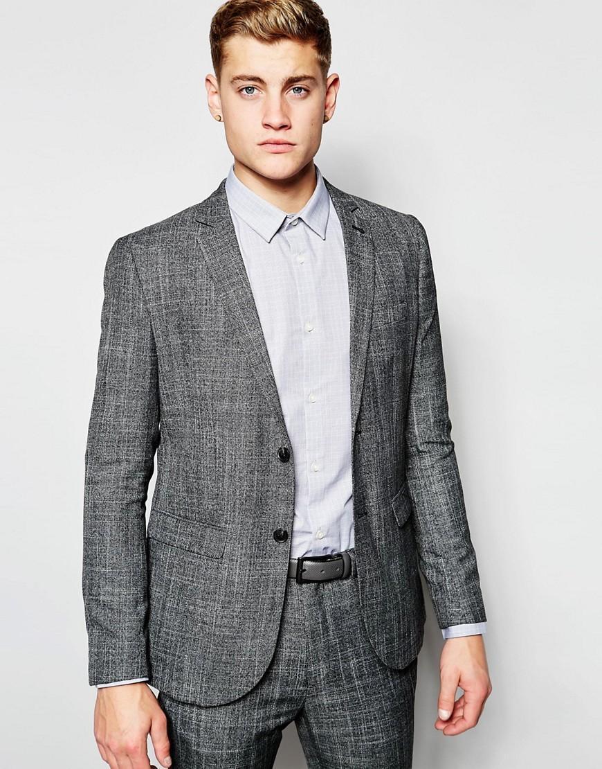 Blazer de costume skinny New Look - Gris  (taille XS)