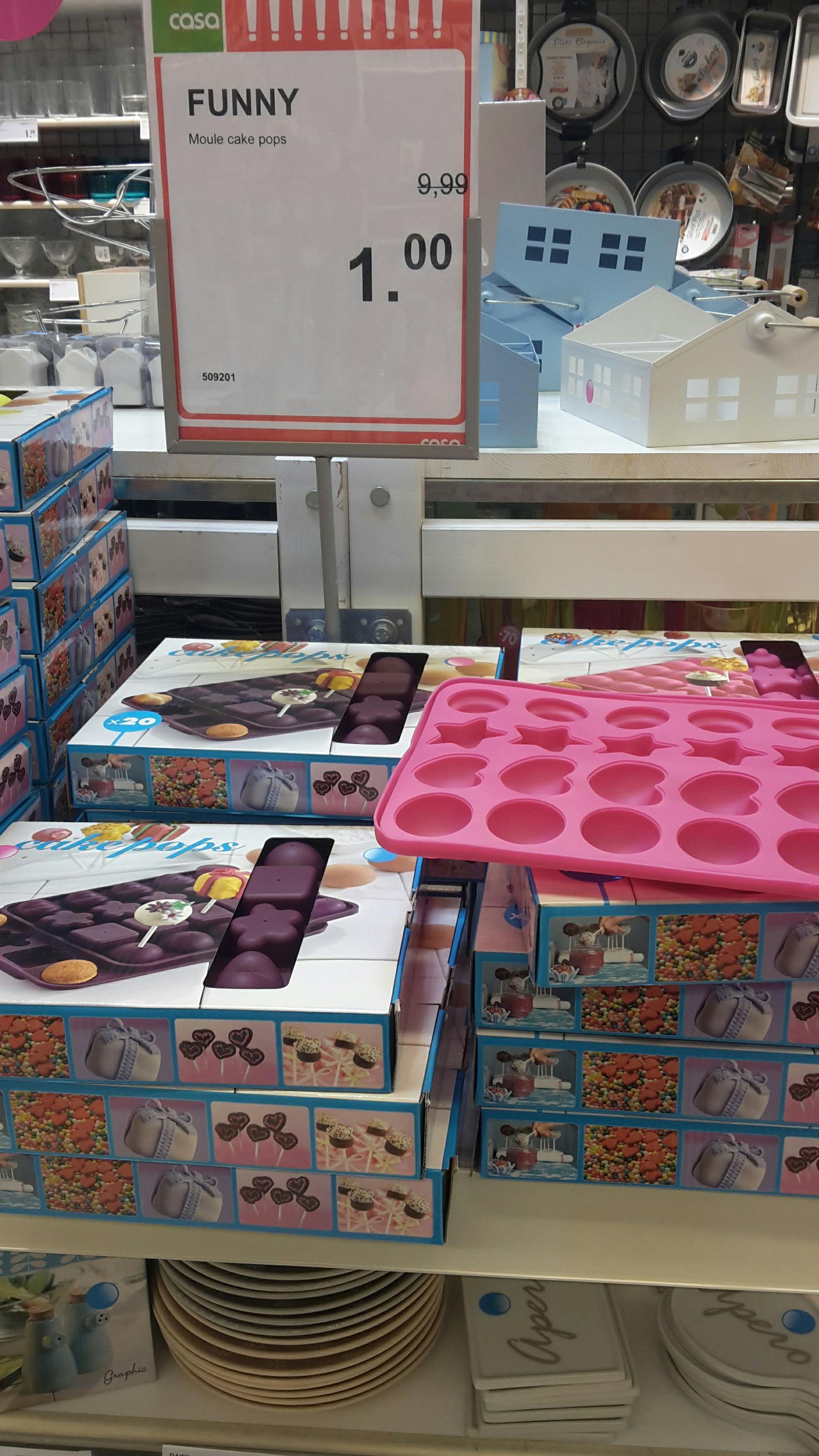 Moule à cake pops Funny