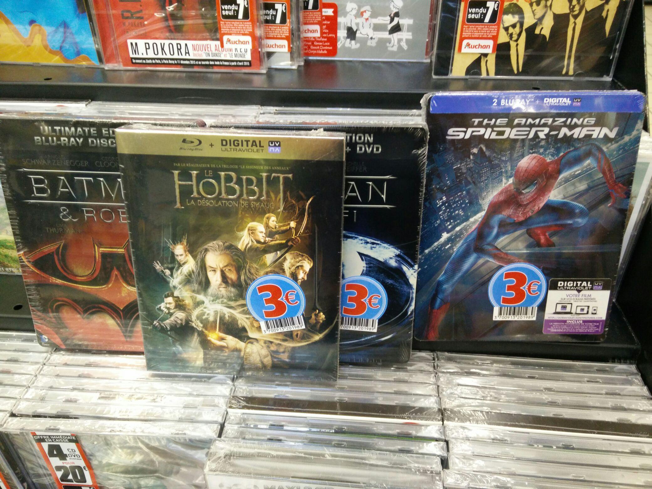 Sélection de Blu-ray (The Amazing Spider-Man, Le Hobbit La Désolation de Smaug...)