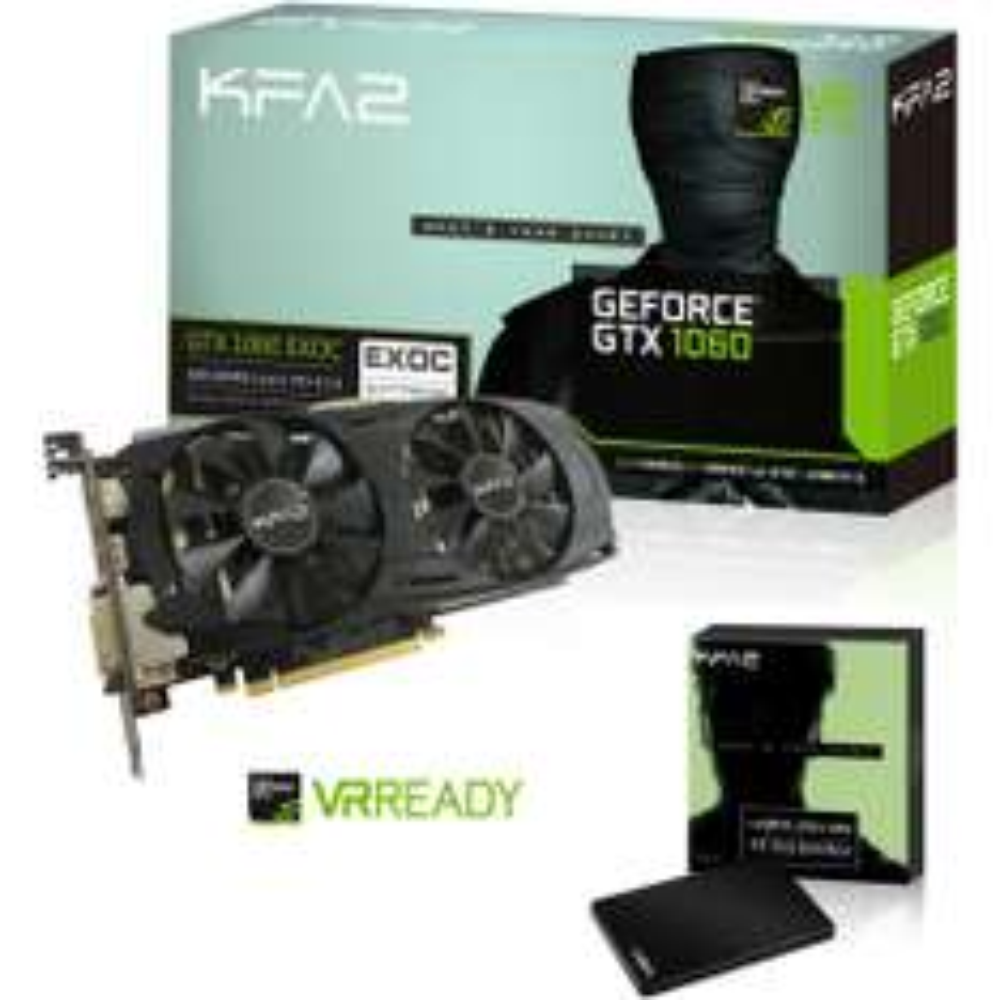 Carte graphique KFA2 GeForce GTX 1060 EXOC 6 Go + SSD KFA2 Gamer (MLC) 120 Go