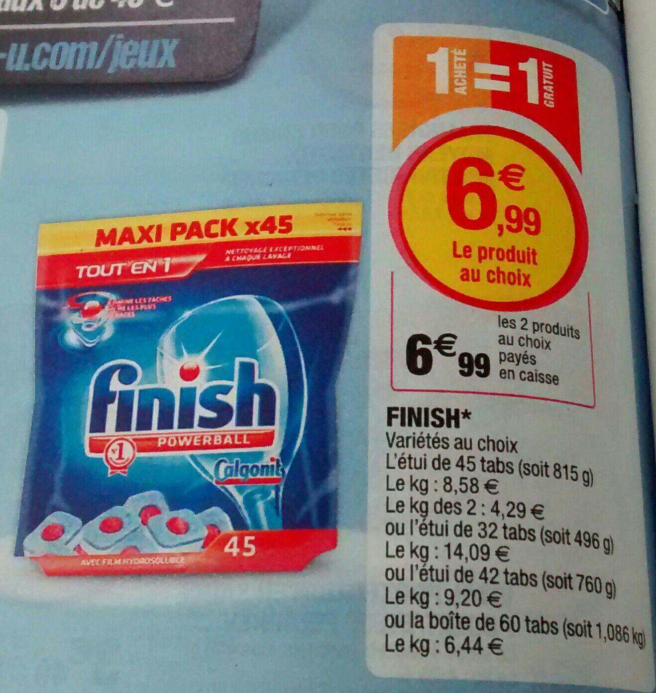 Lot de 2 paquets de pastilles lave vaisselle Finish (120 tablettes)