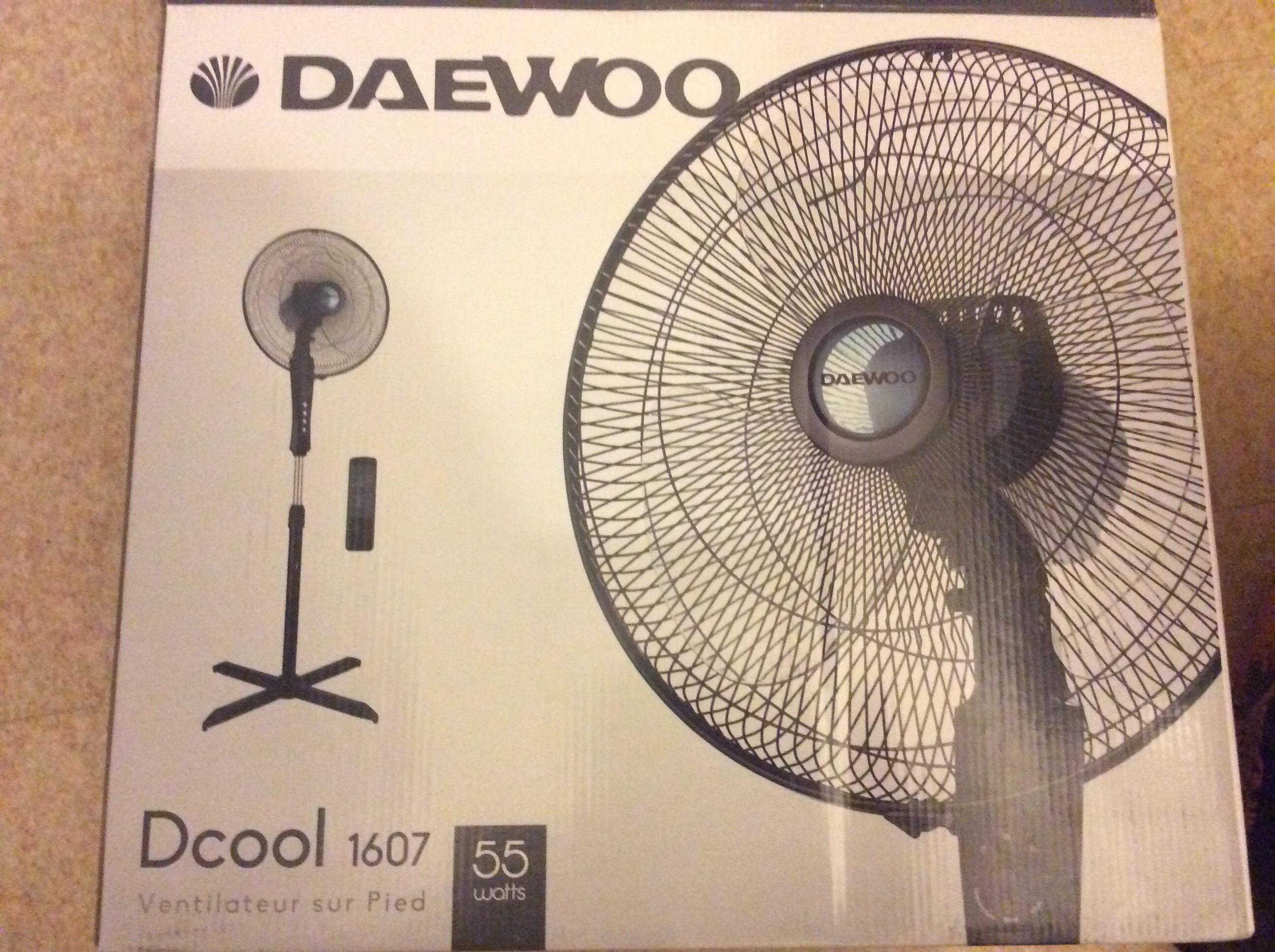 Lot de 2 ventilateurs télécommandés sur pied Daewoo Dcool 1607 (55 W)