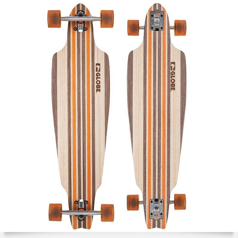 "Longboard 10"" Globe Prower V-Ply - natural / orange"
