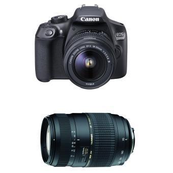 Pack FNAC : Reflex Canon EOS 1300D + Objectif Canon EF-S 18-55 DC III + Objectif reflex Tamron AF Di 70 - 300 mm f/4.0 - 5.6 LD Macro 1:2