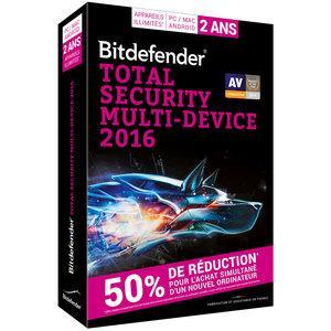 Bitdefender Total Security Multi-Device 2016 (Licence 2 Ans 5 Utilisateurs)