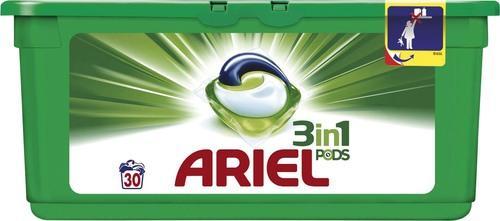 Lot de 2 boîtes de lessive Ariel 3 en 1 Pods (via BDR de 1,80€)