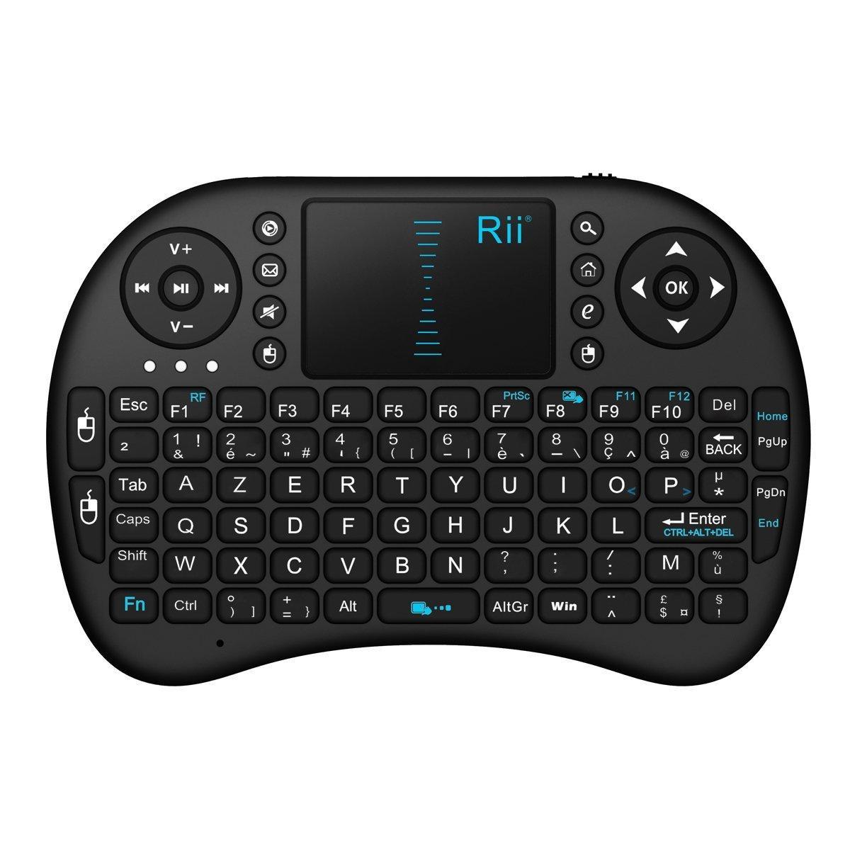 Mini Clavier Rii Mini i8 Wireless (AZERTY) - pour Smart TV, mini PC...
