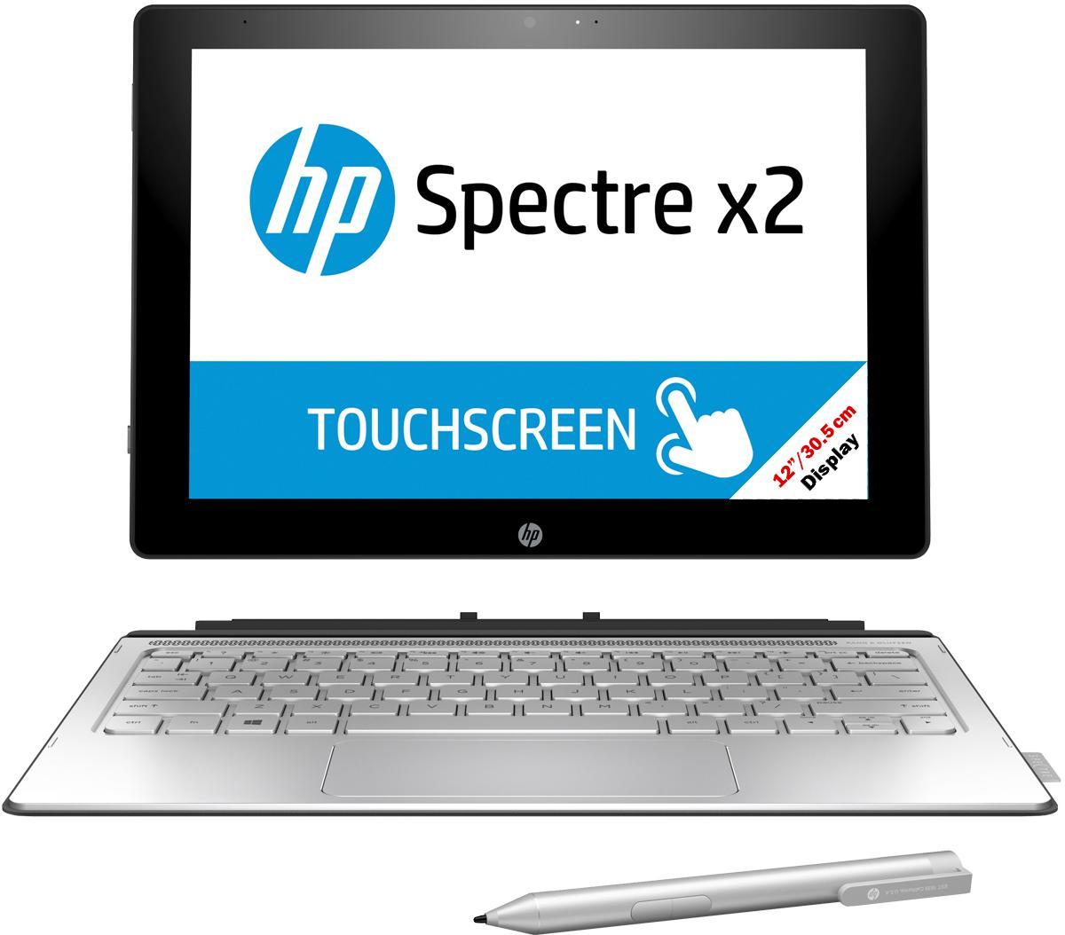 """Ultrabook convertible 12"""" HP Spectre x2 12-a090nz - Qwertz, Core M7 6Y75, 8Go RAM, 256 Go SSD, Intel HD 515"""