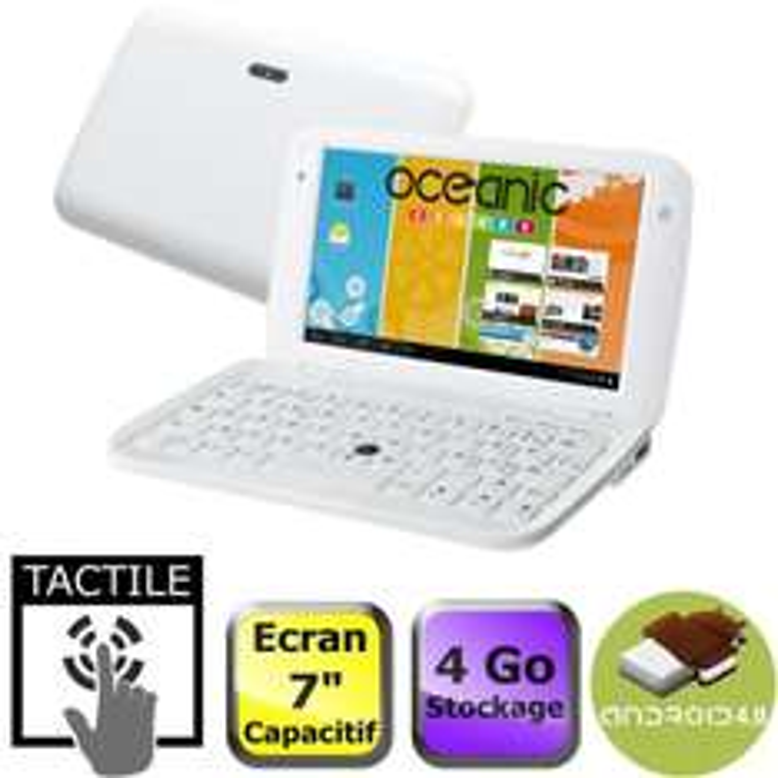 "Oceanic Netbook 7"" Tactile Blanc"