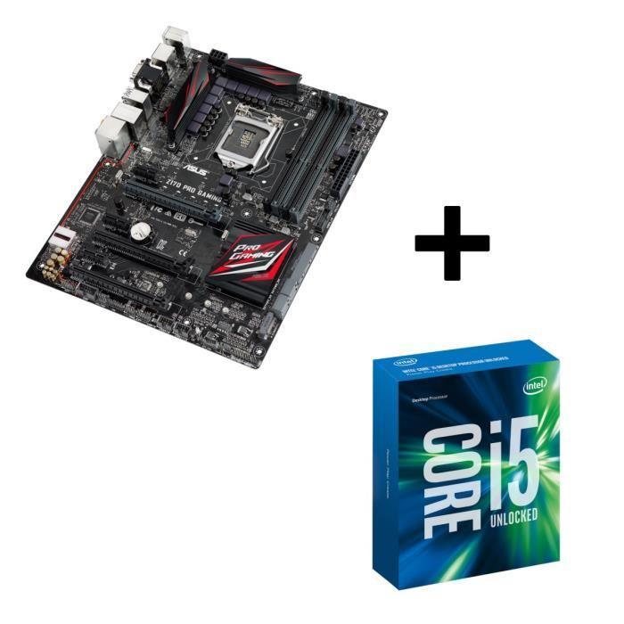 Kit Evolution : Processeur Intel Skylake Core i5-6600K + Carte mère Asus Z170 Pro Gaming