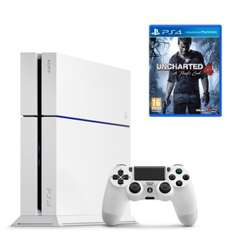 Console Sony PS4 500 Go Blanche + Jeu Uncharted 4 : A Thief's End