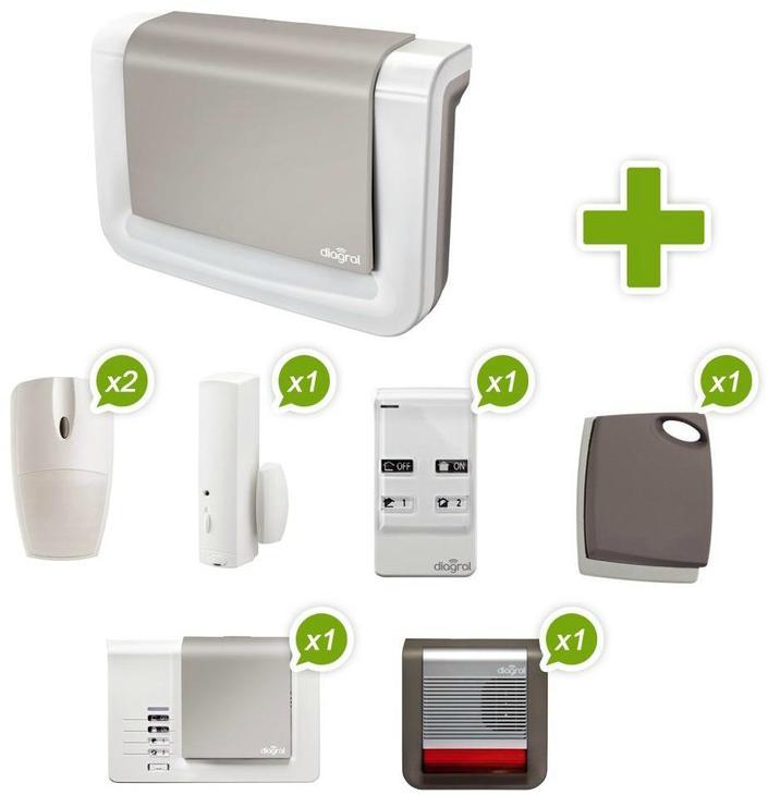 Pack alarme sans fil Diagral DIAG05ASF NF&A2P