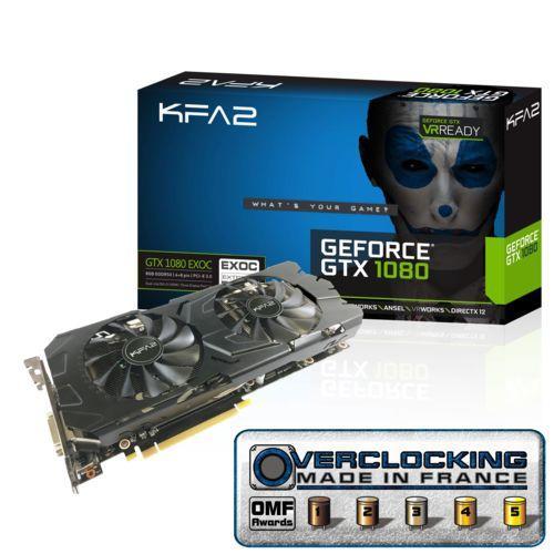 Carte graphique KFA2 GeForce GTX 1080 - EXOC (8 Go)