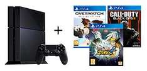 Console Sony PS4 500 Go + Overwatch + Call of Duty : Black Ops 3 + Naruto Shippūden : Ultimate Ninja Storm 4