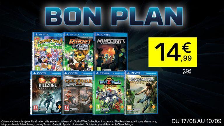 Selection de jeux PS Vita à 14.99  - Ex : Uncharted : Golden Abyss