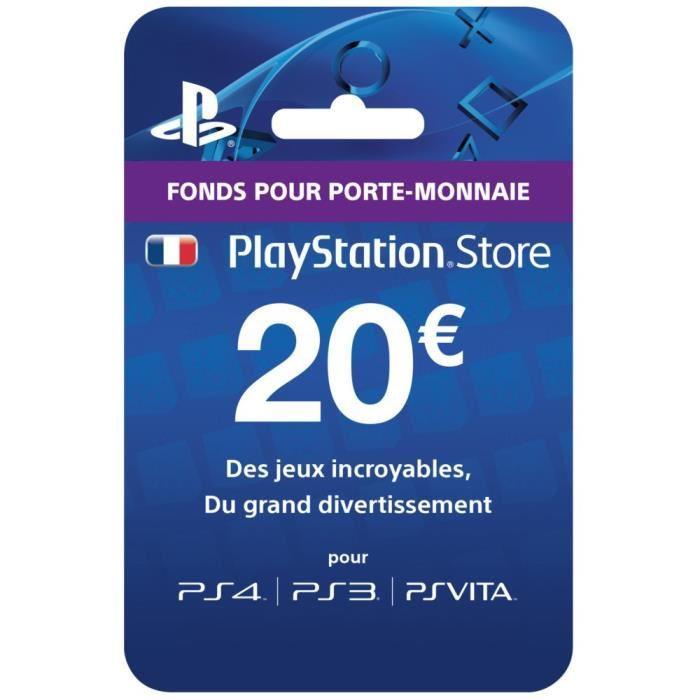 [Cdiscount à Volonté] Carte cadeau de 20€ pour le PlayStation Store