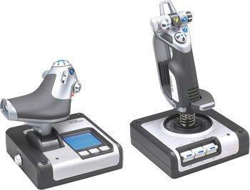 Combiné joystick + manette des gaz pour PC Saitek Throttle X52