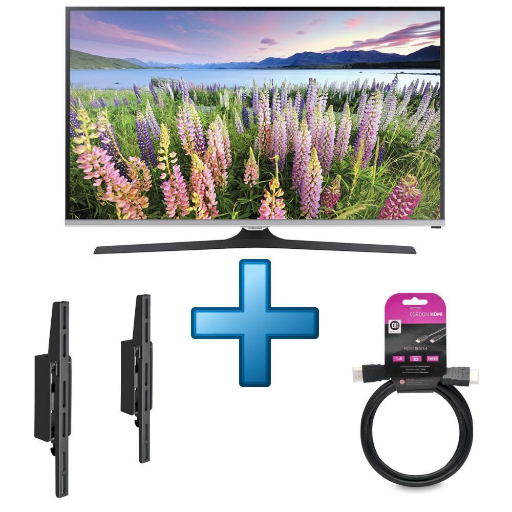 "Pack TV 40"" Samsung UE40J5100 + support mural + câble HDMI (1.5 m) (via ODR de 46€48)"