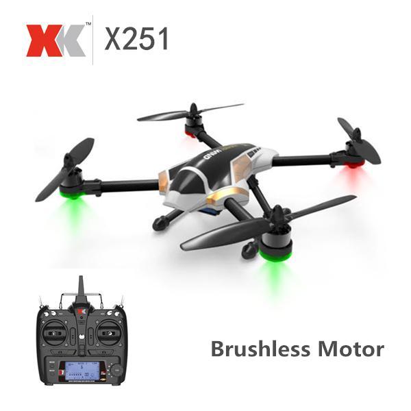 Drone Racer XK X251 RTF Class 250 + Brushless + Acro + télécommande pro + armature carbonne  (80 km/h)