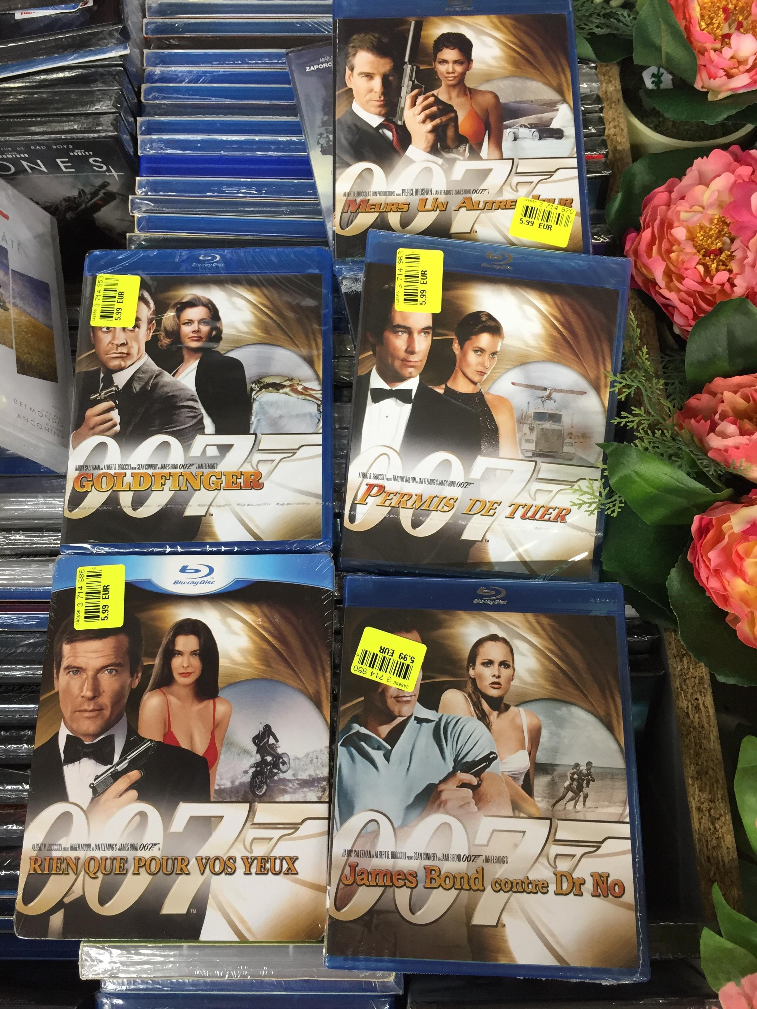 Sélection de blu-ray James Bond