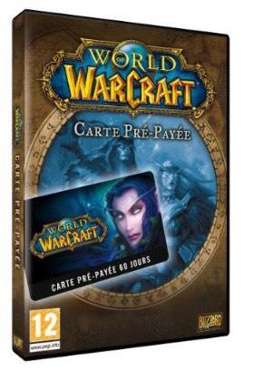 Carte prépayée World of Warcraft - 2 mois