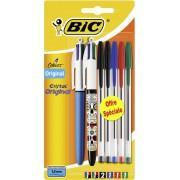 Sélection de produits 100% remboursés (via 50% sur la carte de fidélité + 50% de remise immédiate) - Ex : lot de 2 stylo-billes 4 couleurs + 5 stylo-billes Cristal Bic (100% remboursés)