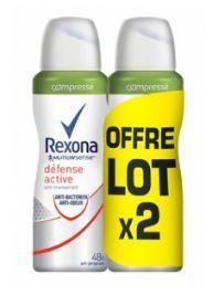 Lot de 2 déodorants Rexona Compressés (via 2.64€ sur la carte de fidélité + BDR)