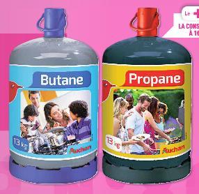 Bouteille de gaz Butane ou Propane 13kg + Consigne