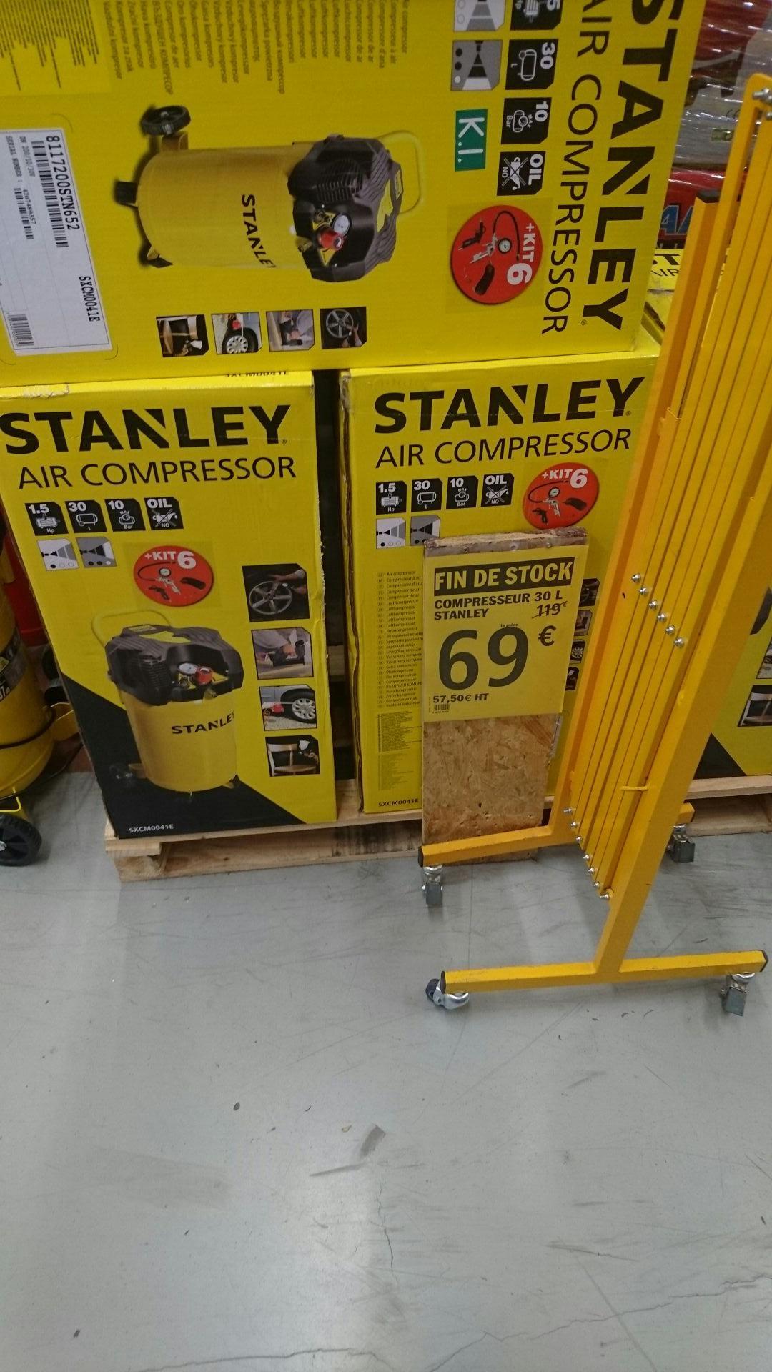 Compresseur Stanley - 30L, 10 bar