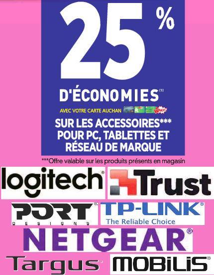 25% remise fidélité sur une sélection d'accessoires PC et de marques - Ex. : Clavier sans-fil Logitech K230