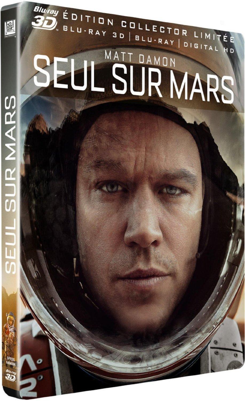 Coffret Blu-ray Seul sur Mars (+ Blu-ray 3D + version numérique + steelbook)