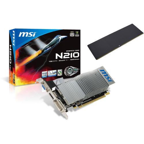 Carte graphique MSI GeForce 210 - 1 Go + Tapis de souris Corsair MM200 Extended