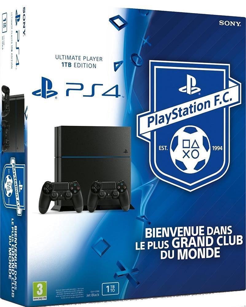 Sélection de Packs Console Playstation 4 1To en promo - Ex: Avec 2ème manette + Uncharted 4: A Thief's End + Playstation FC