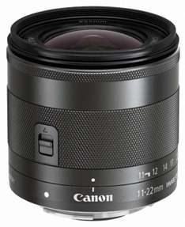 Objectif Canon EF-M 11-22 mm f/4-5.6 IS STM 18 mm - Noir